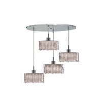 Elegant Lighting Mini 4 Light Pendant in Chrome with Royal Cut Clear Crystal 1284D-R-S-CL/RC alternative photo thumbnail