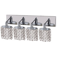 Mini 4 Light 26 inch Chrome Vanity Wall Light in Clear, Royal Cut, Ellipse