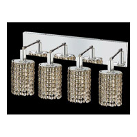 Elegant Lighting Mini 4 Light Vanity in Chrome with Swarovski Strass Golden Teak Crystal 1284W-O-E-GT/SS