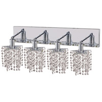 Mini 4 Light 26 inch Chrome Vanity Wall Light in Clear, Royal Cut, Star