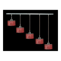 Elegant Lighting Mini 4 Light Pendant in Chrome with Swarovski Strass Bordeaux Crystal 1285D-O-E-BO/SS