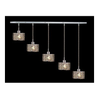 Elegant Lighting Mini 4 Light Pendant in Chrome with Swarovski Strass Golden Teak Crystal 1285D-O-E-GT/SS