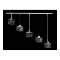 Elegant Lighting Mini 4 Light Pendant in Chrome with Swarovski Strass Jet Black Crystal 1285D-O-E-JT/SS