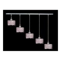 Elegant Lighting Mini 4 Light Pendant in Chrome with Swarovski Strass Rosaline Crystal 1285D-O-E-RO/SS