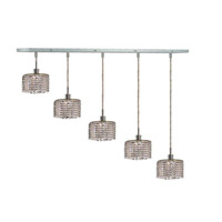 Elegant Lighting Mini 5 Light Pendant in Chrome with Royal Cut Clear Crystal 1285D-O-R-CL/RC alternative photo thumbnail