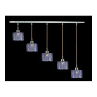 Elegant Lighting Mini 5 Light Pendant in Chrome with Swarovski Strass Sapphire Crystal 1285D-O-R-SA/SS