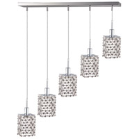 Elegant Lighting Mini 5 Light Pendant in Chrome with Elegant Cut Clear Crystal 1285D-O-S-CL/EC