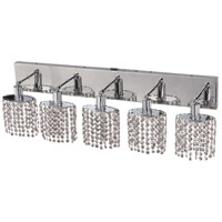 Elegant Lighting Mini 5 Light Vanity in Chrome with Elegant Cut Clear Crystal 1285W-O-E-CL/EC