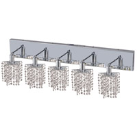 Elegant Lighting Mini 5 Light Vanity in Chrome with Elegant Cut Clear Crystal 1285W-O-P-CL/EC