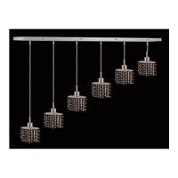 Elegant Lighting Mini 6 Light Pendant in Chrome with Royal Cut Jet Black Crystal 1286D-O-E-JT/RC