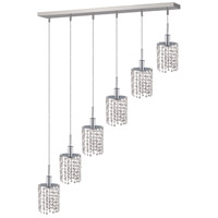 Elegant Lighting Mini 6 Light Pendant in Chrome with Royal Cut Clear Crystal 1286D-O-R-CL/RC