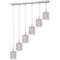 Elegant Lighting Mini 6 Light Pendant in Chrome with Elegant Cut Clear Crystal 1286D-O-S-CL/EC