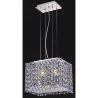Elegant Lighting Moda 2 Light Pendant in Chrome with Royal Cut Sapphire Crystal 1291D14C-SA/RC