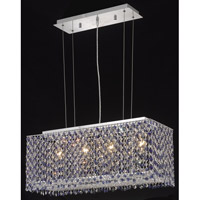 Elegant Lighting Moda 4 Light Dining Chandelier in Chrome with Swarovski Strass Rosaline Crystal 1291D26C-RO/SS