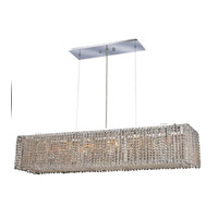 Elegant Lighting Moda 6 Light Dining Chandelier in Chrome with Elegant Cut Clear Crystal 1291D32C-CL/EC