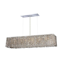Elegant Lighting Moda 6 Light Dining Chandelier in Chrome with Swarovski Strass Golden Teak Crystal 1291D32C-GT/SS