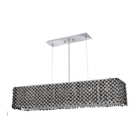 Elegant Lighting Moda 6 Light Dining Chandelier in Chrome with Swarovski Strass Jet Black Crystal 1291D32C-JT/SS