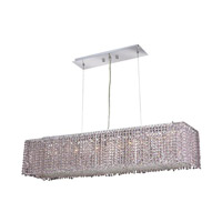 Elegant Lighting Moda 6 Light Dining Chandelier in Chrome with Royal Cut Rosaline Crystal 1291D32C-RO/RC