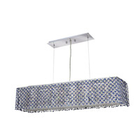 Moda 6 Light 10 inch Chrome Dining Chandelier Ceiling Light in Sapphire, Swarovski Strass