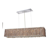 Elegant Lighting Moda 6 Light Dining Chandelier in Chrome with Swarovski Strass Topaz Crystal 1291D32C-TO/SS