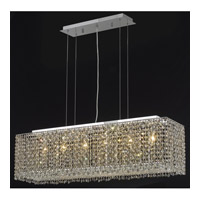 Elegant Lighting Moda 6 Light Dining Chandelier in Chrome with Swarovski Strass Golden Teak Crystal 1291D38C-GT/SS