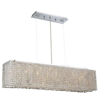 Elegant Lighting 1291D46C-CL/SS Moda 6 Light 10 inch Chrome Dining Chandelier Ceiling Light in Clear, Swarovski Strass