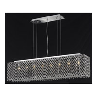 Elegant Lighting Moda 6 Light Dining Chandelier in Chrome with Swarovski Strass Jet Black Crystal 1291D46C-JT/SS