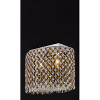 Elegant Lighting Moda 2 Light Dining Chandelier in Chrome with Swarovski Strass Topaz Crystal 1292D14C-TO/SS