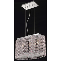 Elegant Lighting Moda 3 Light Dining Chandelier in Chrome with Swarovski Strass Rosaline Crystal 1292D18C-RO/SS