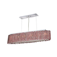 Elegant Lighting Moda 6 Light Dining Chandelier in Chrome with Royal Cut Bordeaux Crystal 1292D32C-BO/RC