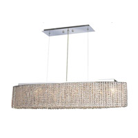 Elegant Lighting Moda 6 Light Dining Chandelier in Chrome with Elegant Cut Clear Crystal 1292D32C-CL/EC