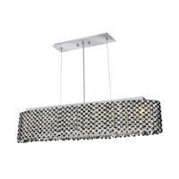 Elegant Lighting Moda 6 Light Dining Chandelier in Chrome with Royal Cut Jet Black Crystal 1292D32C-JT/RC