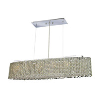 Elegant Lighting Moda 6 Light Dining Chandelier in Chrome with Swarovski Strass Light Peridot Crystal 1292D32C-LP/SS