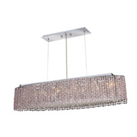 Elegant Lighting Moda 6 Light Dining Chandelier in Chrome with Royal Cut Rosaline Crystal 1292D32C-RO/RC