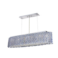Elegant Lighting Moda 6 Light Dining Chandelier in Chrome with Royal Cut Sapphire Crystal 1292D32C-SA/RC