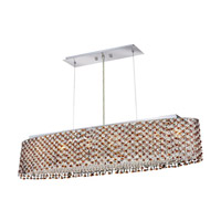 Elegant Lighting Moda 6 Light Dining Chandelier in Chrome with Swarovski Strass Topaz Crystal 1292D32C-TO/SS