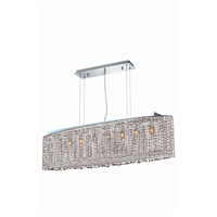 Elegant Lighting Moda 8 Light Dining Chandelier in Chrome with Elegant Cut Clear Crystal 1292D46C-CL/EC