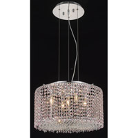 Elegant Lighting Moda 5 Light Dining Chandelier in Chrome with Swarovski Strass Rosaline Crystal 1293D18C-RO/SS
