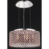 Elegant Lighting Moda 6 Light Dining Chandelier in Chrome with Royal Cut Bordeaux Crystal 1293D22C-BO/RC
