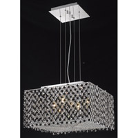Elegant Lighting Moda 5 Light Dining Chandelier in Chrome with Swarovski Strass Jet Black Crystal 1294D18C-JT/SS