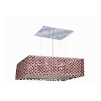 Moda 9 Light 22 inch Chrome Dining Chandelier Ceiling Light in Bordeaux, Swarovski Strass