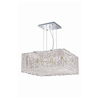 Elegant Lighting Moda 9 Light Dining Chandelier in Chrome with Swarovski Strass Clear Crystal 1294D22C-CL/SS