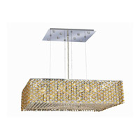 Elegant Lighting Moda 9 Light Dining Chandelier in Chrome with Royal Cut Light Topaz Crystal 1294D22C-LT/RC