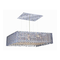 Elegant Lighting Moda 9 Light Dining Chandelier in Chrome with Royal Cut Sapphire Crystal 1294D22C-SA/RC