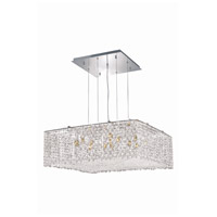 Elegant Lighting Moda 13 Light Dining Chandelier in Chrome with Swarovski Strass Clear Crystal 1294D26C-CL/SS