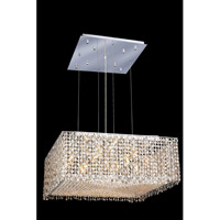 Elegant Lighting Moda 13 Light Dining Chandelier in Chrome with Swarovski Strass Golden Teak Crystal 1294D26C-GT/SS