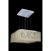 Elegant Lighting Moda 13 Light Dining Chandelier in Chrome with Swarovski Strass Light Peridot Crystal 1294D26C-LP/SS