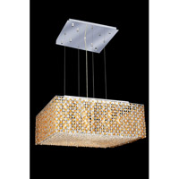 Elegant Lighting Moda 13 Light Dining Chandelier in Chrome with Swarovski Strass Light Topaz Crystal 1294D26C-LT/SS