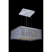 Elegant Lighting Moda 13 Light Dining Chandelier in Chrome with Royal Cut Sapphire Crystal 1294D26C-SA/RC