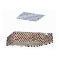 Elegant Lighting 1294D26C-TO/SS Moda 13 Light 26 inch Chrome Dining Chandelier Ceiling Light in Topaz, Swarovski Strass photo thumbnail